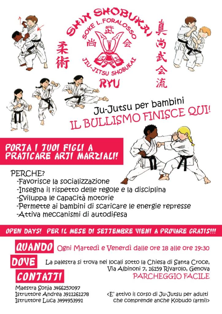 Corsi Jiu Jitsu 2019-2020 antibullisimo